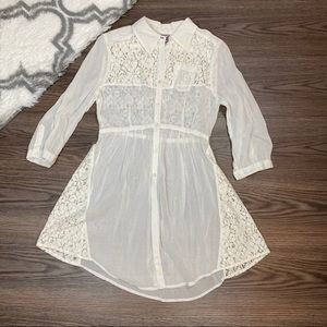 Free People Sheer Lace Tunic Size 4